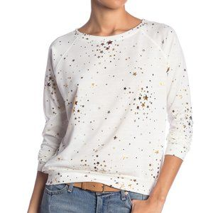 Prince Peter Gold Star Pullover (sz S, ivory)